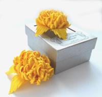 Yellow Bridal Hair Flowers, Flower For Sash, Bridal ...