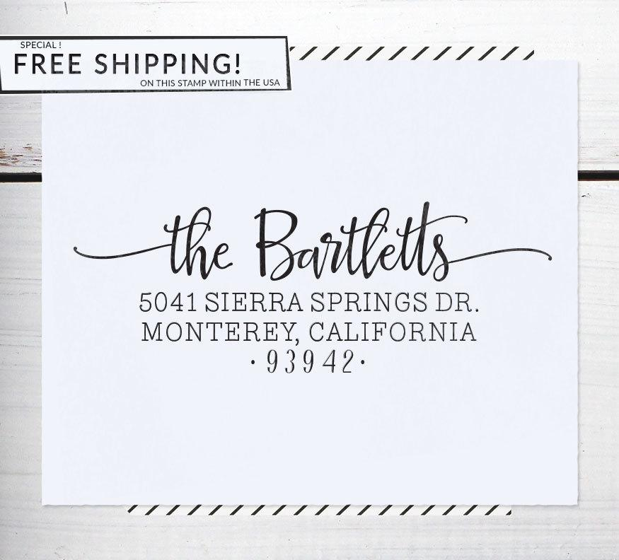custom address stamp return