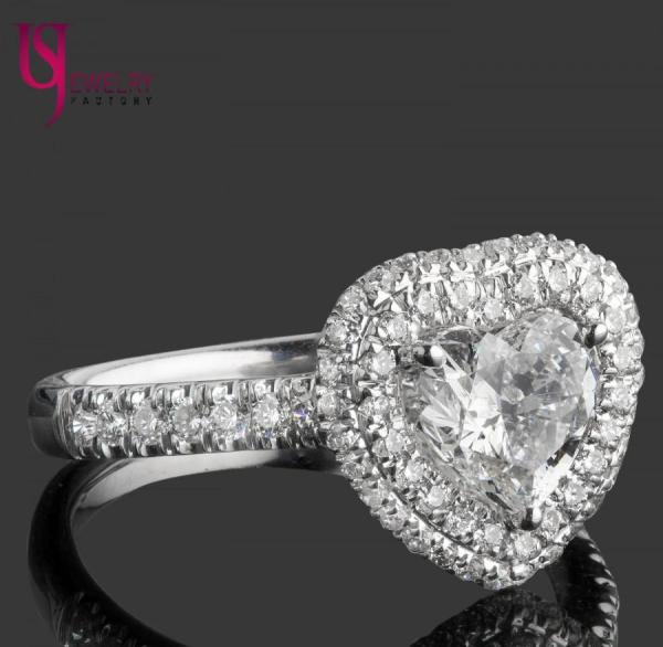 1.70 Carat Heart Shaped Diamond Engagement Ring Cut
