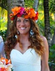 silk flower crown - hawaiian. tropical