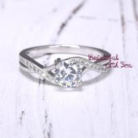 Engagement Ring, Womens Sterling Silver Promise Ring ...