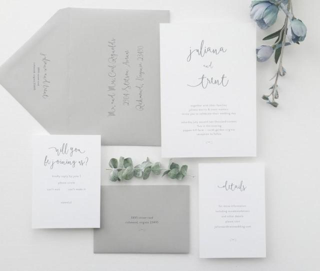 Paper Samples Juliana Simple Wedding Invitation Save The Date Rustic Wedding Invitation Calligraphy Letterpress Wedding Invitation