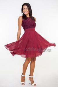 Marsala Bridesmaid Dress Burgundy Bridesmaid Lace ...