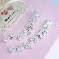 Bridal Long Earrings Wedding Earrings Extra Long Earrings ...