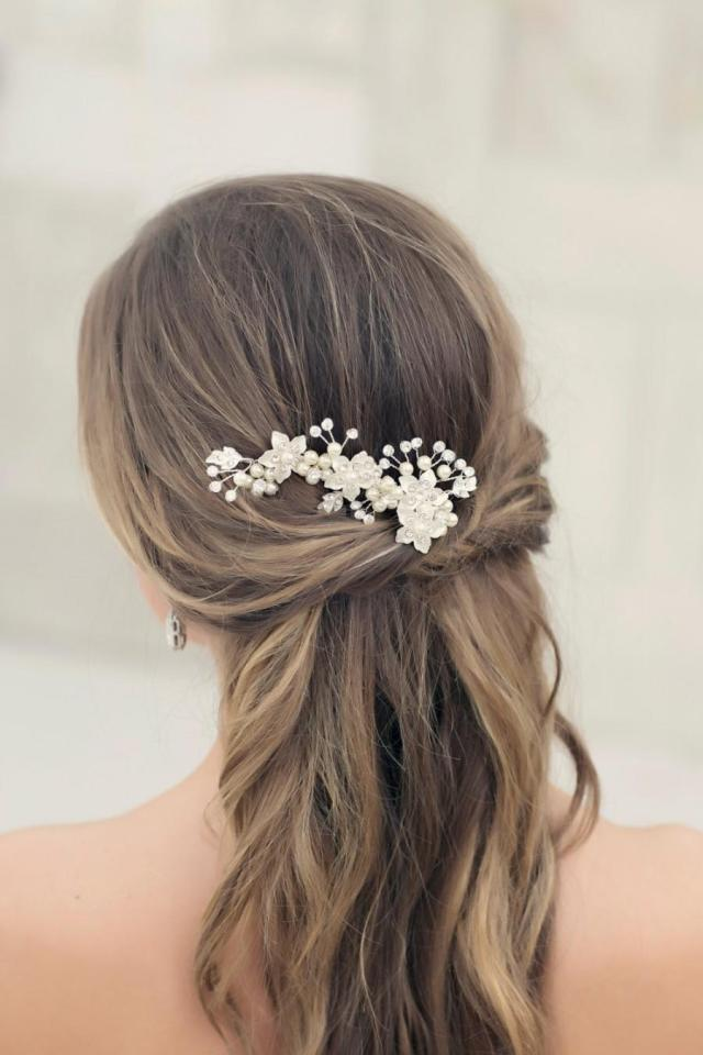 ready to ship crystal vine, bridal hairpiece, bridal