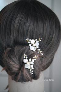 Bridal Hair Pins. Bridal Pearl Hair Pins. Wedding Hair