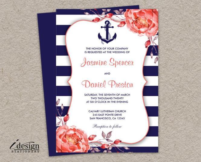 Einladung Nautical Wedding Invitation 2618191 Weddbook