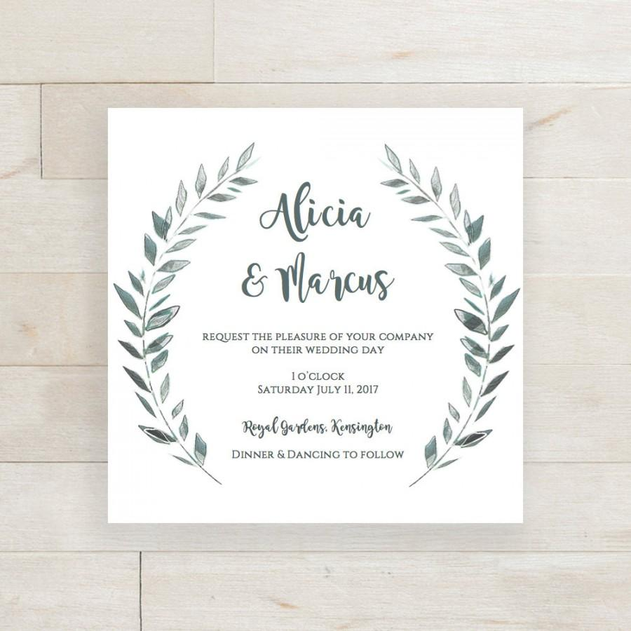 Wedding Invitation Template Download Rustic Printable