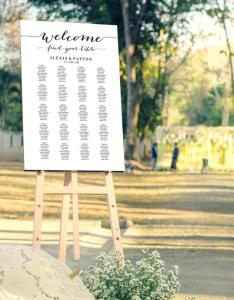 Welcome wedding seating chart template in four sizes find your table poster diy printable reception sign also rh weddbook