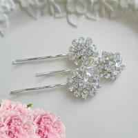 Wedding Hair Pins, Silver Bobby Pins, Crystal Hair Clips ...