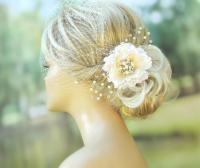 Bridal Birdcage Veil Wedding Hairstyles Bridal Hair ...