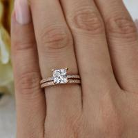 1.5 Ctw Princess Cut, Eternity Wedding Set, Bridal Rings ...