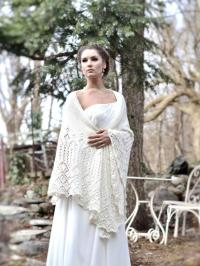 Wedding Shawl, Merino Wool Cashmere Lace Shawl, Ivory ...