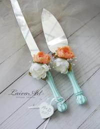 Wedding Cake Server Set & Knife Cake Cutting Set Wedding ...