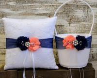 Your Color , Wedding Flower Girl Basket And Ring Bearer ...