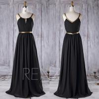 Black And Gold Bridesmaid Dress