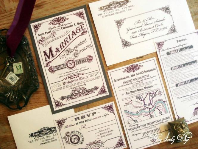 100 Vintage Wedding Invitations