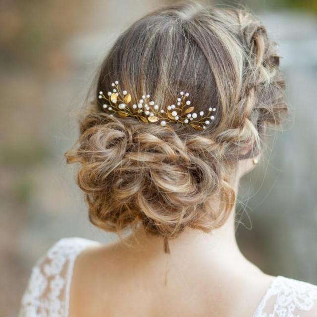 leaf bridal hair pins gold leaf wedding hair pins bridal