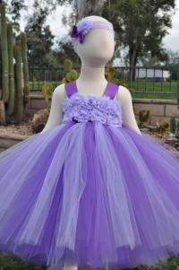 Purple Lilac Flower Girl Dress, Lavender Flower Girl Dress