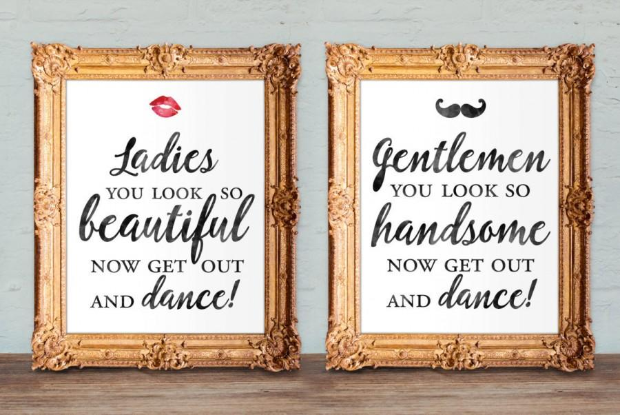 Wedding Bathroom Signs Womens And Mens Restroom His And Hers Bathroom Signs Printable 8x10 And 5x7 Set Of Two 2649086 Weddbook