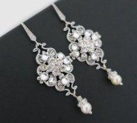 Bridal Earrings Vintage, Wedding Earrings Chandelier ...