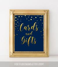 Elegant Wedding Sign Card Reception Decor Cards And Gifts ...