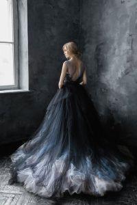 Calypso Nightfall // Volumetric Black Tulle Gown #2651773 ...