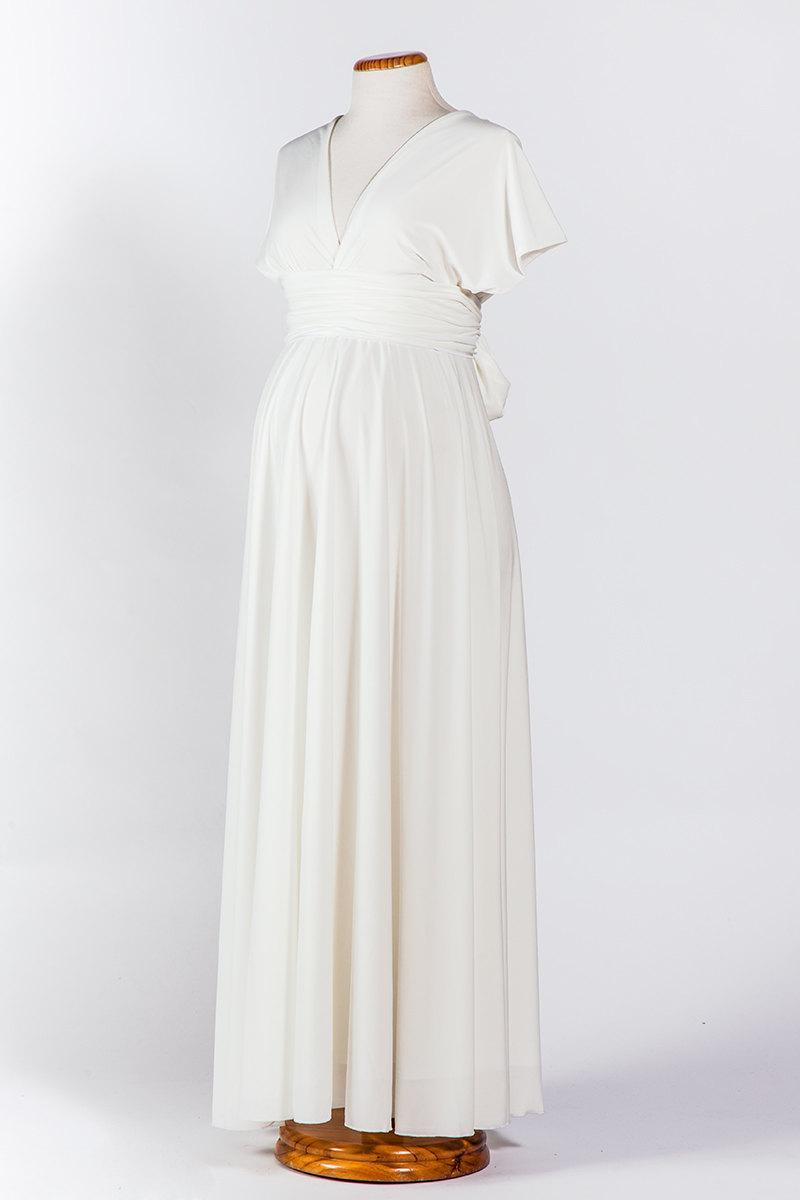 Maternity Wedding Gown Maternity Wedding Dress White