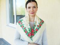Russian Shawl Russian Scarf Chale Russe Floral Scarf White ...