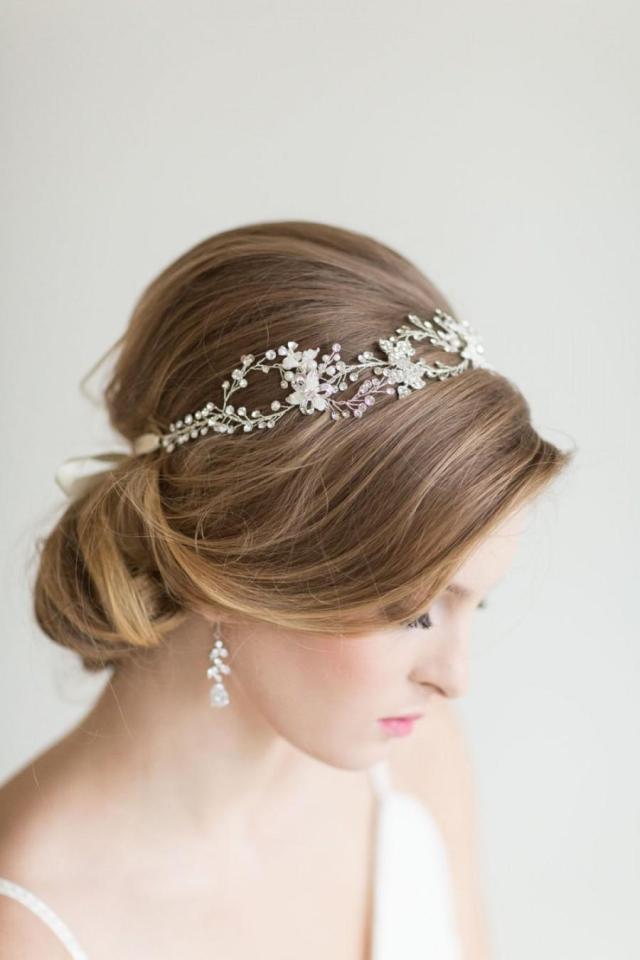 wedding hair vine, bridal head piece, bridal hair accessory