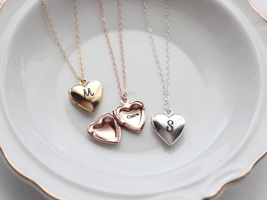 personalized heart locket personalized