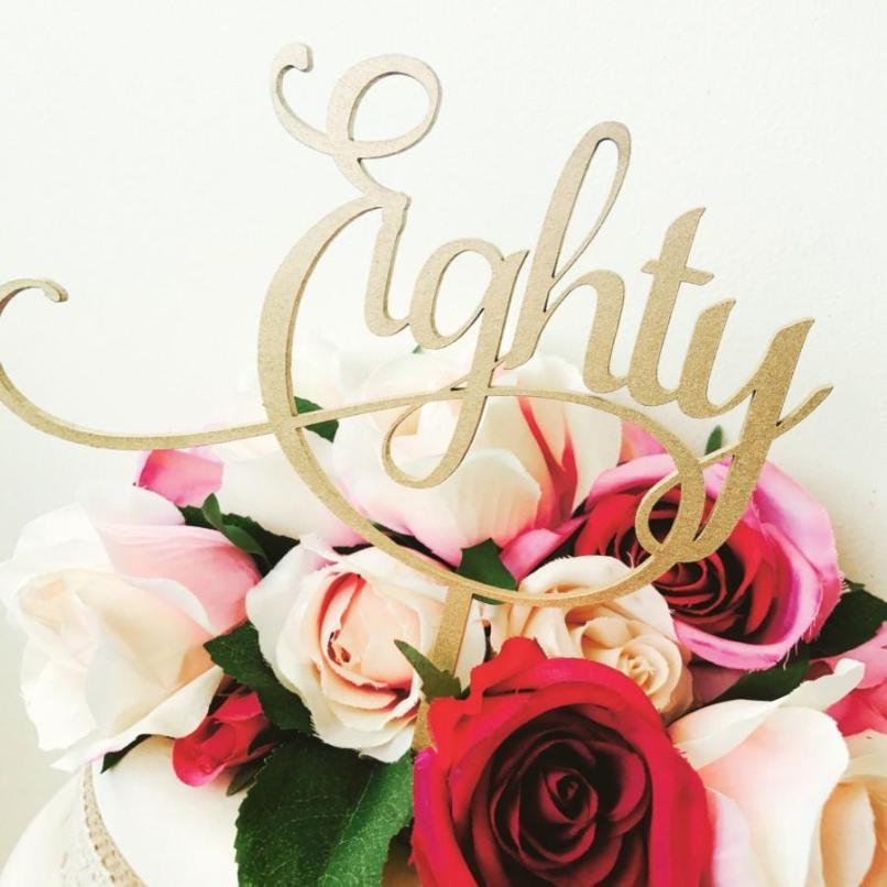 Eighty Cake Topper 80th Birthday Decoration