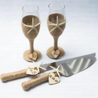 Beach Wedding Set Champagne Glasses Cake Server Set Cake ...