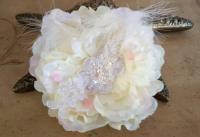 Ivory Wedding Hair Flower , Wedding Headpiece, Bridal Hair