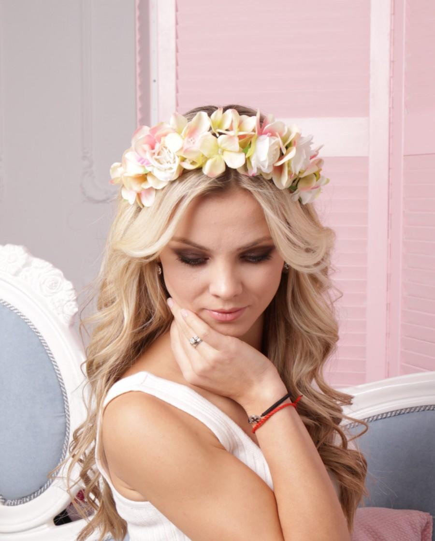 Bridal Crown Romantic Headband Spring Racing Flower Crown
