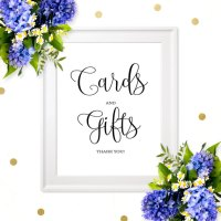 Cards And Gifts Sign-DIY Printable Wedding Sign-Chic ...