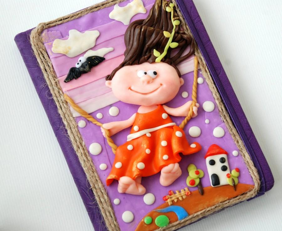 handmade notebook polymer clay