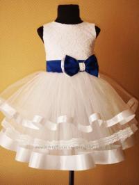 White Lace Flower Girl Dress Chiffon Flower Girl Dress ...