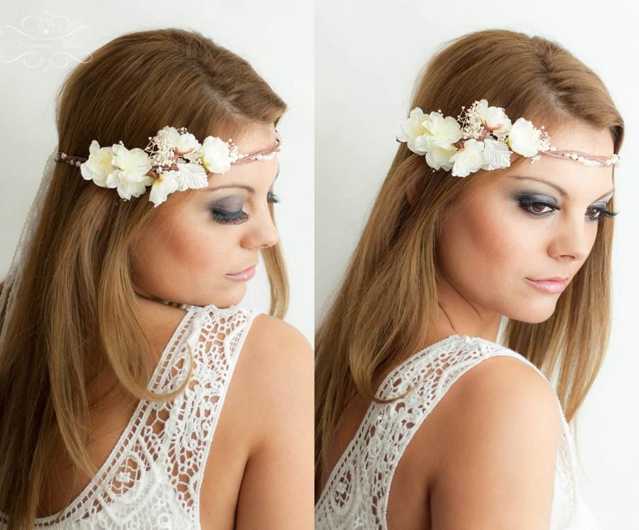 Flower Crown, Wedding Tiara, Wedding Accessories, Bridal