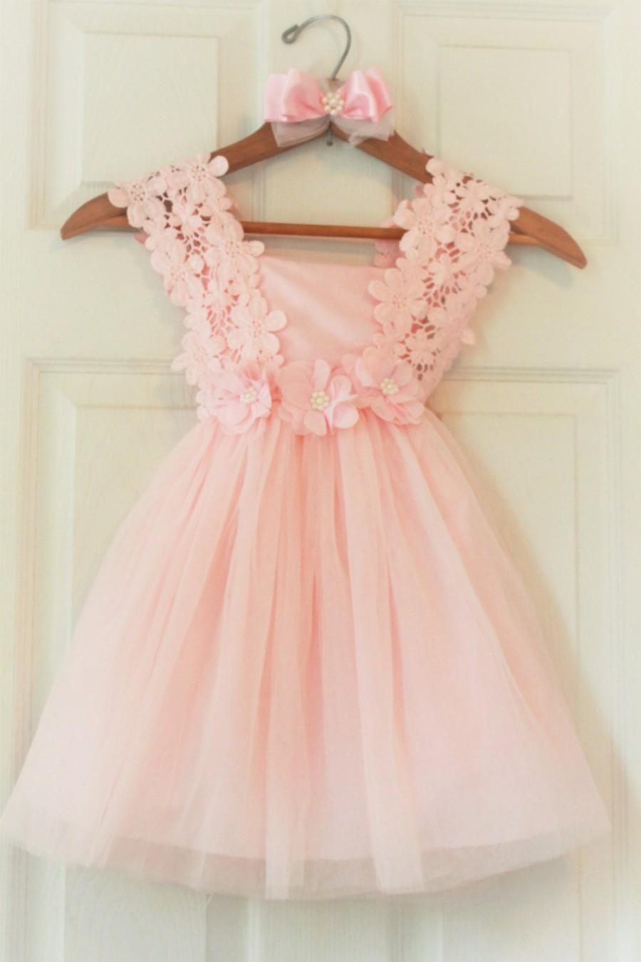 Baby Pink Flower Girl Dresses