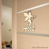 Nursery Wall Letters Unfinished Wood Name Sign For Nursery ...