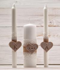 Wedding Unity Candle Set Rustic Unity Candle Church