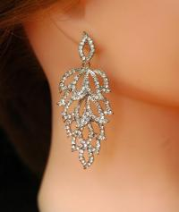 Art Deco Earrings, Wedding Earrings FREE SHIPPING Bridal