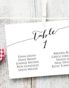 Table seating cards template wedding chart diy sizes  horizontal plan printable usd also rh weddbook
