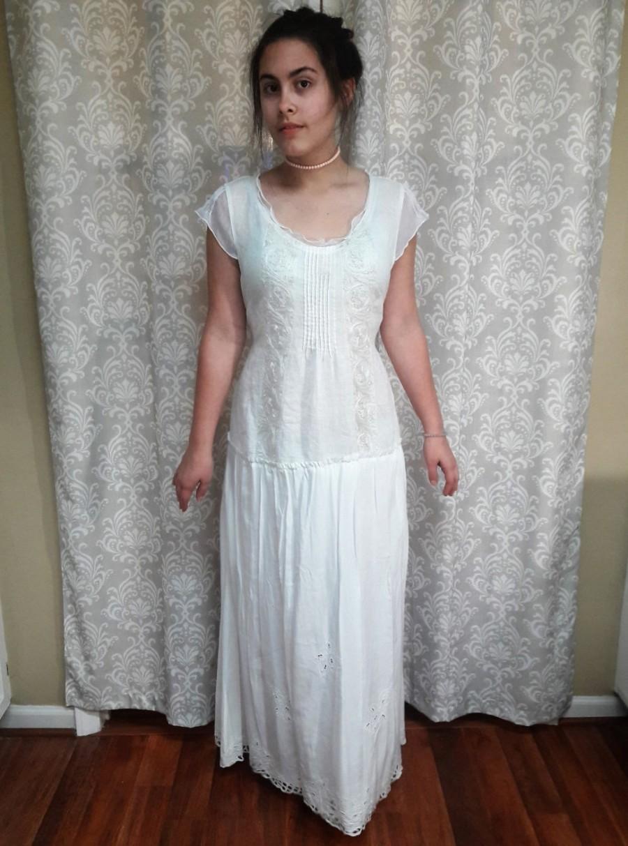 Boho Hippie Wedding Dress, Beach Wedding Gown, Simple