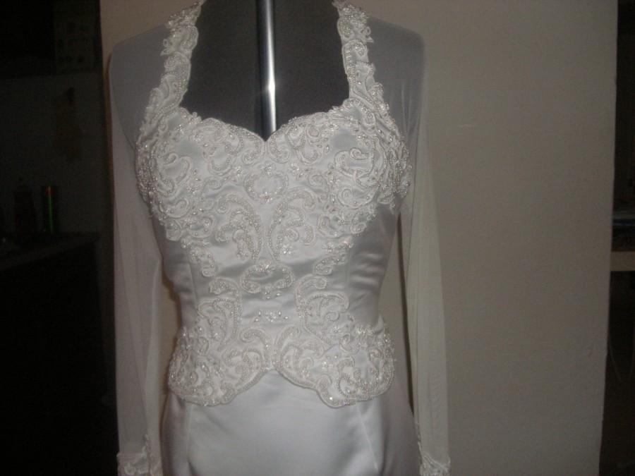 Elegant White Matte Satin Sheath Gown, Detachable Train