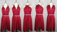 Summer Multi Way Bridesmaid Dress Infinity Dress Dark Red ...