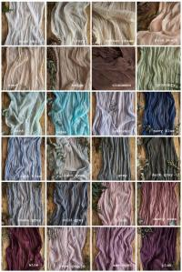 Gauze Runner COLOR SWATCHES Cheesecloth Table Hand Dyed ...