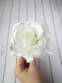 White Rose Hairpin - Flowers Hair Pin Accessories - Rose ...