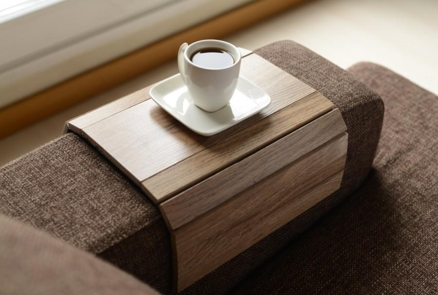 sofa arm three seater set price tray table handmade armrest coffee wood gifts gift home living